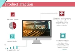 Product Traction Ppt PowerPoint Presentation Pictures Inspiration