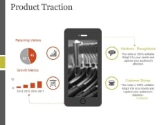 Product Traction Ppt PowerPoint Presentation Themes