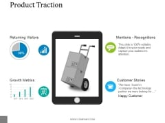 Product Traction Ppt PowerPoint Presentation Visual Aids