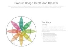 Product Usage Depth And Breadth Flower Petal Ppt Slides