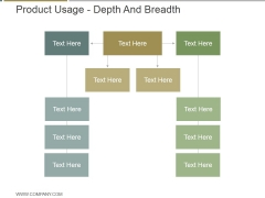 Product Usage Depth And Breadth Ppt PowerPoint Presentation Design Templates
