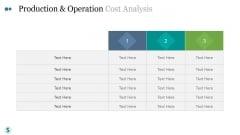 Production And Operation Cost Analysis Ppt PowerPoint Presentation Microsoft