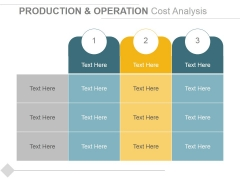 Production And Operation Cost Analysis Ppt PowerPoint Presentation Pictures Portrait