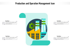 Production And Operation Management Icon Ppt PowerPoint Presentation File Designs PDF