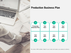Production Business Plan Ppt PowerPoint Presentation Icon Deck Cpb Pdf
