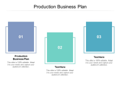 Production Business Plan Ppt PowerPoint Presentation Show Slides Cpb