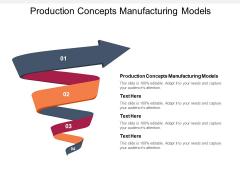 Production Concepts Manufacturing Models Ppt PowerPoint Presentation Portfolio Slides Cpb Pdf