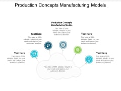 Production Concepts Manufacturing Models Ppt PowerPoint Presentation Slides Example File Cpb
