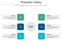 Production Costing Ppt PowerPoint Presentation Infographics Styles Cpb
