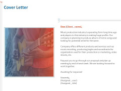 Production House Agreement Cover Letter Ppt Pictures Slideshow PDF