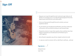 Production House Agreement Sign Off Ppt Pictures Microsoft PDF