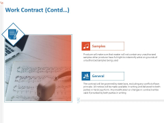 Production House Agreement Work Contract Contd Ppt Outline Template PDF