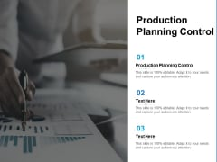 Production Planning Control Ppt PowerPoint Presentation Model Format Cpb