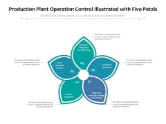 Production Plant Operation Control Illustrated With Five Petals Ppt PowerPoint Presentation Inspiration Outfit PDF