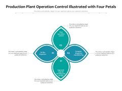 Production Plant Operation Control Illustrated With Four Petals Ppt PowerPoint Presentation Infographic Template Microsoft PDF