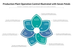 Production Plant Operation Control Illustrated With Seven Petals Ppt PowerPoint Presentation Infographic Template Guide PDF
