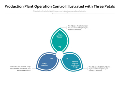 Production Plant Operation Control Illustrated With Three Petals Ppt PowerPoint Presentation Summary Mockup PDF