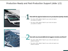 Production Ready And Post Production Support Slide Ppt PowerPoint Presentation Infographics Example Introduction