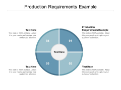 Production Requirements Example Ppt PowerPoint Presentation Infographics Show
