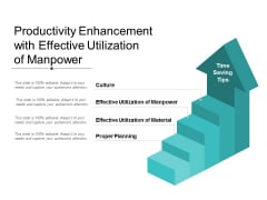 Productivity Enhancement With Effective Utilization Of Manpower Ppt Powerpoint Presentation Icon Background Designs