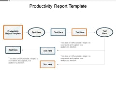 Productivity Report Template Ppt PowerPoint Presentation Icon Graphics Tutorials Cpb Pdf