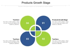 Products Growth Stage Ppt PowerPoint Presentation Styles Ideas Cpb