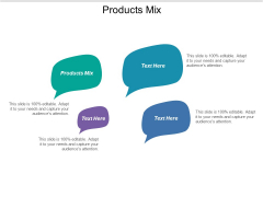 Products Mix Ppt PowerPoint Presentation Outline Picture Cpb