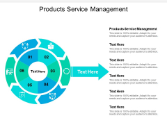 Products Service Management Ppt PowerPoint Presentation Professional Inspiration Cpb
