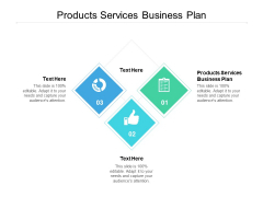 Products Services Business Plan Ppt PowerPoint Presentation Model Ideas Cpb