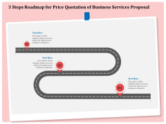 Professional 3 Steps Roadmap For Price Quotation Of Business Services Proposal Microsoft PDF