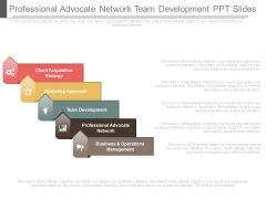 Professional Advocate Network Team Development Ppt Slides