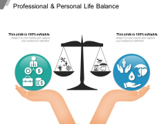 Professional And Personal Life Balance Ppt PowerPoint Presentation Model Background Designs