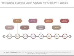 Professional Business Vision Analysis For Client Ppt Sample