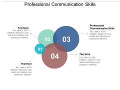 Professional Communication Skills Ppt Powerpoint Presentation Styles Slides Cpb