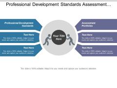 Professional Development Standards Assessment Portfolios Ppt PowerPoint Presentation Model Graphics Tutorials
