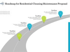 Professional House Cleaning Service Roadmap For Residential Cleaning Maintenance Proposal Slides PDF
