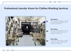 Professional Laundry Room For Clothes Washing Services Ppt PowerPoint Presentation Gallery Icon PDF