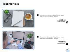 Professional Picture Proposal Testimonials Ppt Show File Formats PDF