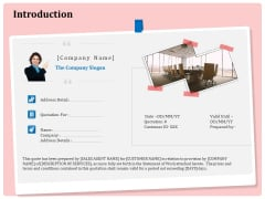 Professional Price Quotation Service Introduction Ppt Layouts Professional PDF
