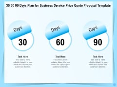 Professional Quotation Estimation Solutions 30 60 90 Days Plan For Business Service Price Quote Proposal Information PDF