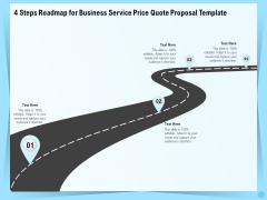 Professional Quotation Estimation Solutions 4 Steps Roadmap For Business Service Price Quote Proposal Background PDF