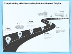 Professional Quotation Estimation Solutions 7 Steps Roadmap For Business Service Price Quote Proposal Summary PDF