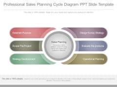 Professional Sales Planning Cycle Diagram Ppt Slide Template