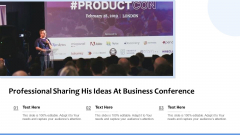 Professional Sharing His Ideas At Business Conference Ppt Gallery Graphics PDF