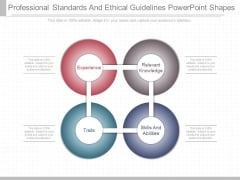 Professional Standards And Ethical Guidelines Powerpoint Shapes