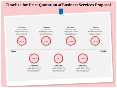 Professional Timeline For Price Quotation Of Business Services Proposal Formats PDF
