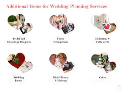Professional Wedding Planner Additional Items For Wedding Planning Services Ppt PowerPoint Presentation Gallery Display PDF