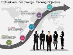 Professionals For Strategic Planning Objectives Powerpoint Template