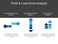 Profit And Loss Arrow Analysis Ppt PowerPoint Presentation Infographic Template Model
