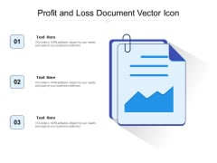 Profit And Loss Document Vector Icon Ppt PowerPoint Presentation Professional Example PDF